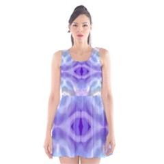 Beautiful Blue Purple Pastel Pattern, Scoop Neck Skater Dress