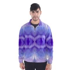Beautiful Blue Purple Pastel Pattern, Wind Breaker (Men)