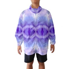 Beautiful Blue Purple Pastel Pattern, Wind Breaker (Kids)