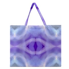 Beautiful Blue Purple Pastel Pattern, Zipper Large Tote Bag