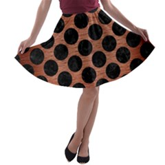 CIR2 BK MARBLE COPPER (R) A-line Skater Skirt