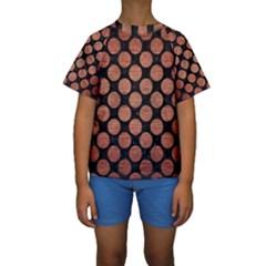 CIR2 BK MARBLE COPPER Kid s Short Sleeve Swimwear