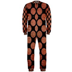 Circles2 Black Marble & Copper Brushed Metal Onepiece Jumpsuit (men)