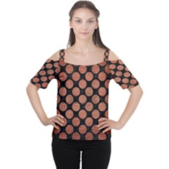 CIR2 BK MARBLE COPPER Women s Cutout Shoulder Tee