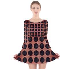 CIR1 BK MARBLE COPPER (R) Long Sleeve Velvet Skater Dress