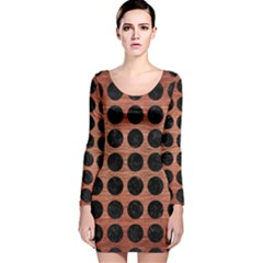 CIR1 BK MARBLE COPPER (R) Long Sleeve Velvet Bodycon Dress