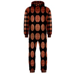 Circles1 Black Marble & Copper Brushed Metal Hooded Jumpsuit (men)