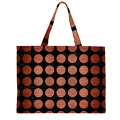 CIR1 BK MARBLE COPPER Large Tote Bag