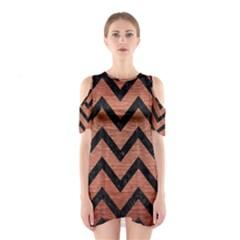 CHV9 BK MARBLE COPPER (R) Cutout Shoulder Dress