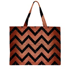 CHV9 BK MARBLE COPPER (R) Large Tote Bag