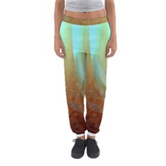 Floating Teal and Orange Peach Women s Jogger Sweatpants