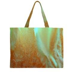 Floating Teal and Orange Peach Large Tote Bag