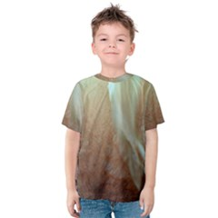 Floating Subdued Orange and Teal Kid s Cotton Tee
