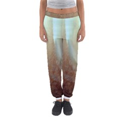 Floating Subdued Orange and Teal Women s Jogger Sweatpants