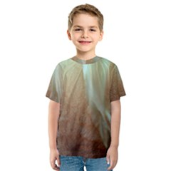 Floating Subdued Orange and Teal Kid s Sport Mesh Tee