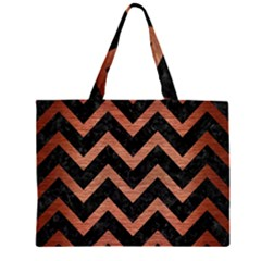 CHV9 BK MARBLE COPPER Large Tote Bag