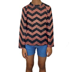 CHV3 BK MARBLE COPPER Kid s Long Sleeve Swimwear