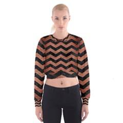 CHV3 BK MARBLE COPPER Women s Cropped Sweatshirt