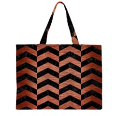 CHV2 BK MARBLE COPPER Large Tote Bag