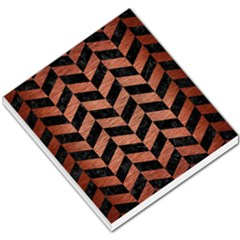 Chevron1 Black Marble & Copper Brushed Metal Small Memo Pads