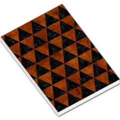 Triangle3 Black Marble & Brown Burl Wood Large Memo Pads