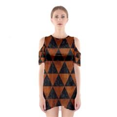 TRI3 BK MARBLE BURL Cutout Shoulder Dress
