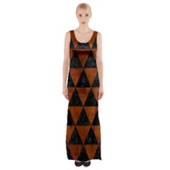 TRI3 BK MARBLE BURL Maxi Thigh Split Dress