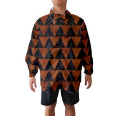 Triangle2 Black Marble & Brown Burl Wood Wind Breaker (kids)