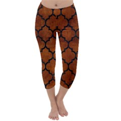TIL1 BK MARBLE BURL (R) Capri Winter Leggings