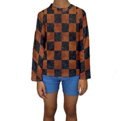 SQR1 BK MARBLE BURL Kid s Long Sleeve Swimwear