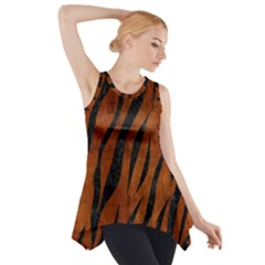 SKN3 BK MARBLE BURL (R) Side Drop Tank Tunic