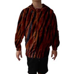SKN3 BK MARBLE BURL (R) Hooded Wind Breaker (Kids)