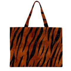 SKN3 BK MARBLE BURL (R) Large Tote Bag