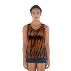 Skin3 Black Marble & Brown Burl Wood (r) Sport Tank Top
