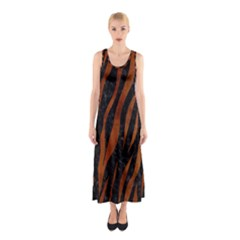 SKN3 BK MARBLE BURL Full Print Maxi Dress
