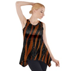 SKN3 BK MARBLE BURL Side Drop Tank Tunic