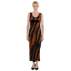SKN3 BK MARBLE BURL Fitted Maxi Dress