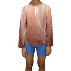 Floating Subdued Peach Kid s Long Sleeve Swimwear