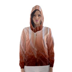 Floating Subdued Peach Hooded Wind Breaker (Women)