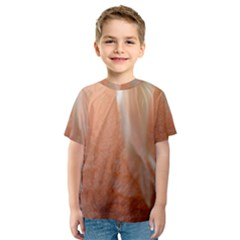 Floating Subdued Peach Kid s Sport Mesh Tee