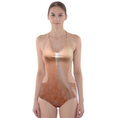 Floating Subdued Peach Cut-Out One Piece Swimsuit