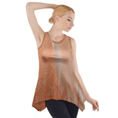 Floating Subdued Peach Side Drop Tank Tunic