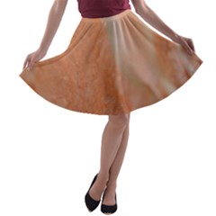 Floating Subdued Peach A-line Skater Skirt
