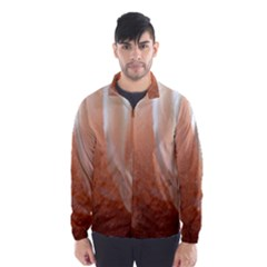Floating Subdued Peach Wind Breaker (men)