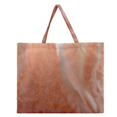 Floating Subdued Peach Zipper Large Tote Bag