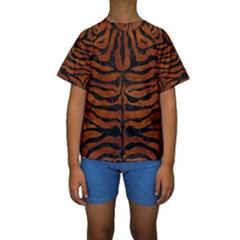 SKN2 BK MARBLE BURL (R) Kid s Short Sleeve Swimwear