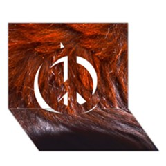 Red Hair Peace Sign 3d Greeting Card (7x5)