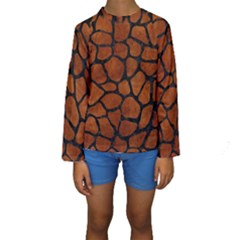 SKN1 BK MARBLE BURL Kid s Long Sleeve Swimwear