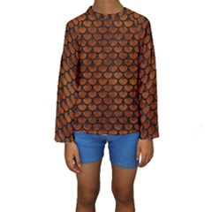 SCA3 BK MARBLE BURL (R) Kid s Long Sleeve Swimwear