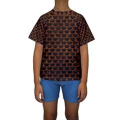 SCA3 BK MARBLE BURL Kid s Short Sleeve Swimwear